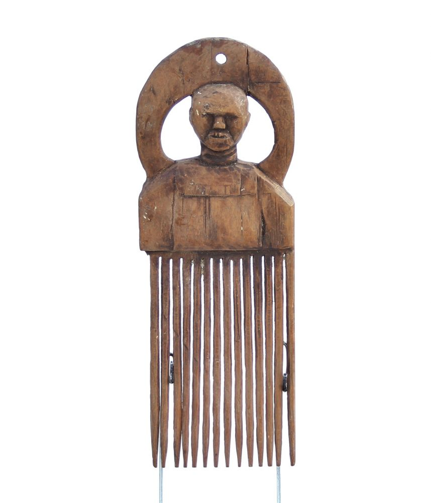 African Wooden Carved Comb 1389 Combs Deco Art Africa