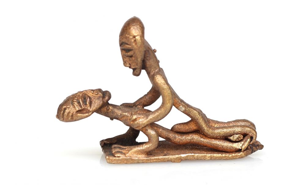 There erotic african sculpture